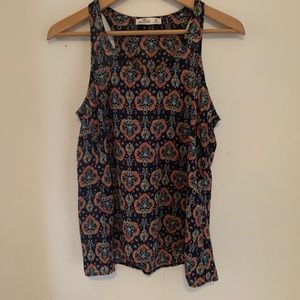Hollister floral print sleeveless blouse